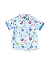 Nickelodeon - Paw Patrol All Over Print Button Down Shirt (4-7)-2489433