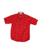 Arcade Styles - All Over Sunglasses Print Button Down Shirt (4-7)-2489448