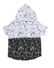 Tops - Two Tone Splatter Print Hooded Tee (4-7)-2489593