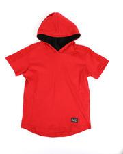 Tops - Pintuck Jersey Hooded T-Shirt (4-7)-2489702
