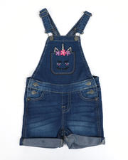 Vigoss Jeans - Unicorn Pocket Denim Shortalls (4-6X)-2490331