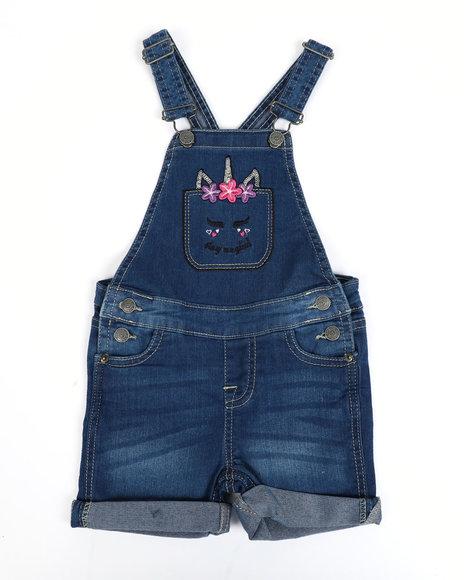 Vigoss Jeans - Unicorn Pocket Denim Shortalls (4-6X)