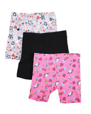Girls - 3 Pk Jersey Bike Shorts (4-6X)-2490395
