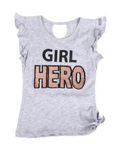HIND - Girl Hero Flip Sequins Top (4-6X)-2490435