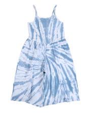 Kensie Girl - Lala Tie Dye Jersey Cropped Jumpsuit (7-16)-2490492