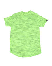 Tops - Melange Scoop Bottom T-Shirt (8-18)-2490530