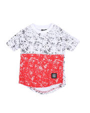 Sizes 2T-4T - Toddler - Two Tone Splatter Print Crew Neck T-Shirt (2T-4T)-2490540