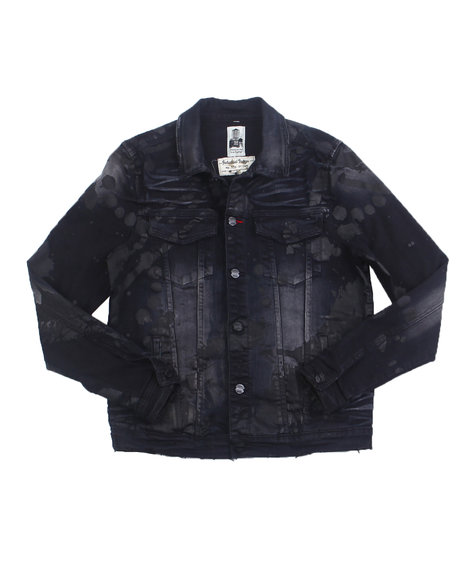 Industrial Indigo - Black Splatter Denim Jacket