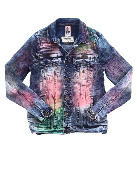 Industrial Indigo - Spray Dyed Denim Jacket
