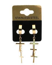 Jewelry & Watches - Hanging Crosses Earrings-2489618