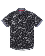 Mens-Holiday - Tiger S/S Woven Shirt-2489131