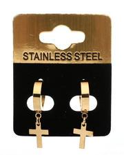 Jewelry & Watches - Hanging Cross Earrings-2489615