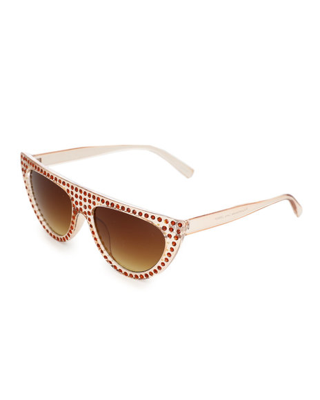 Fashion Lab - Stone Fashion Sunglasses