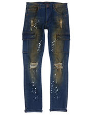 Jeans - Rip and Repair Paint Splatter Cargo Stretch Jean-2487288