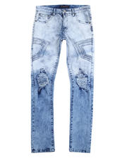 Buyers Picks - 3D Embossed Rip and Tear Stretch Jean-2487310