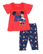 Sets - 2 Pc Minnie Mouse Tee & Printed Leggings Set (2T-4T)-2484628
