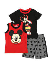 Sizes 2T-4T - Toddler - 3 Pc Mickey I'm All Ears Tee, Muscle Tee & Shorts Set (2T-4T)-2490191