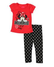 Disney - 2 Pc Minnie Mouse Tee & Leggings Set (2T-4T)-2488225