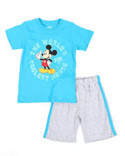 Sets - 2 Pc Mickey Mouse Coolest Tee & Shorts Set (4-7)-2489392