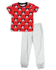 Disney - 2 Pc Mickey Face Print Tee & Jogger Pants Set (4-7)-2490170