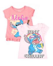 Disney - 2 Pc Stitch Just Chillin & Aloha Tee's (4-6X)-2490961