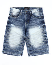 Boys - Stretch Moto Denim Shorts (8-18)-2491194