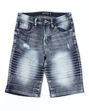 Boys - Stretch Moto Denim Shorts (8-18)-2491201