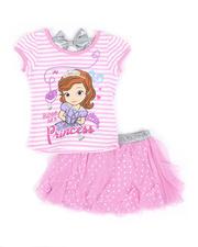 Disney - 2 Pc Sophia Bow Top & Tulle Divided Skirt Set (4-6X)-2490970
