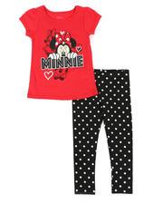 Disney - 2 Pc Minnie Tee & Allover Dot Leggings Set (4-6X)-2491010