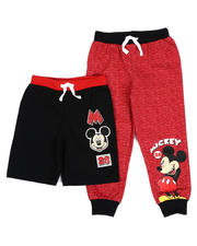 Disney - 2 Pc Mickey Shorts & Jogger Pants Set (2T-4T)-2489380