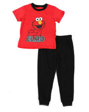 Sesame Street - 2 Pc Elmo Tee & French Terry Jogger Pants Set (2T-4T)-2489384