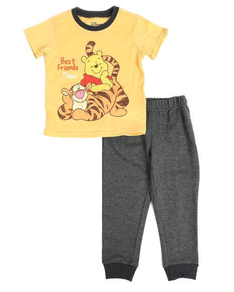Disney - 2 Pc Winnie and Tigger Best Friends Tee & Jogger Pants Set (2T-4T)