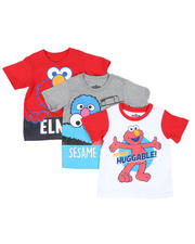 Sizes 2T-4T - Toddler - 3 Pc Sesame Street Print Tee's (2T-4T)-2490966
