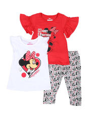 Disney - 3 Pc Minnie Hello Tee, Tank & Allover Print Capri Leggings Set (4-6X)-2490975