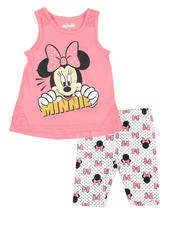 Sets - 2 Pc Minnie Tank & Allover Print Bike Shorts Set (4-6X)-2490985