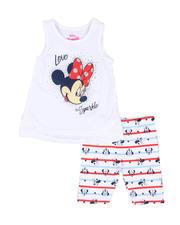 Disney - 2 Pc Minnie Love To Sparkle Tank & Allover Print Bike Shorts Set (4-6X)-2490995