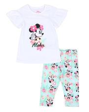 Sets - 2 Pc Minnie Aloha Ruffle Tee & Allover Print Leggings Set (4-6X)-2491000