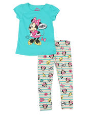 Disney - 2 Pc Minnie Sweet Tee & Print Leggings Set (4-6X)-2491015