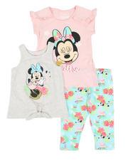 Disney - 3 Pc Minnie Paradise Tee, Tank & Allover Print Capri Leggings Set (4-6X)-2491020