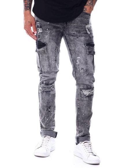 Buyers Picks - Rip and Repair Paint Splatter Cargo Stretch Jean