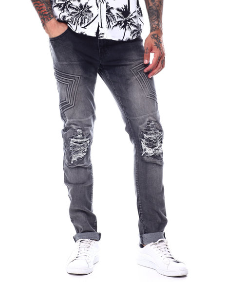 Buyers Picks - 3D Embossed Rip and Tear Stretch Jean