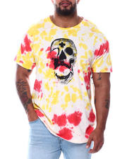 Big & Tall - Tie Dyed S/S Tee W/Graphics (B&T)-2489964