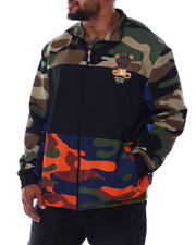 Big & Tall Faves - Camo Print Track Jacket With Embroidery (B&T)-2489244