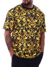 Big & Tall - Filigree Scuba Printed Crew T-Shirt (B&T)-2490099