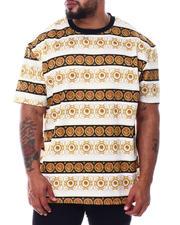 Big & Tall - Lion Stripe Scuba Printed Crew T-Shirt (B&T)-2490104
