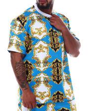 Short-Sleeve - Filigree Scuba Printed Crew T-Shirt (B&T)-2490074