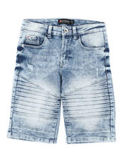 Boys - Stretch Moto Denim Shorts (8-18)-2491244