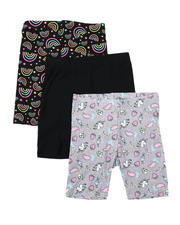 Bottoms - 3 Pk Jersey Bike Shorts (7-16)-2491343