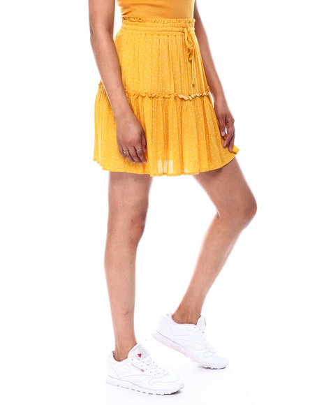 Fashion Lab - Pleated Button Front Skirt
