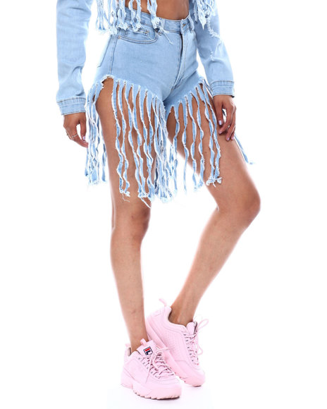 Red Fox - Fringe Denim Short